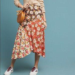 anthropologie farm rio patchwork skirt